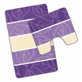 Koupelnová a WC předložka fialový list