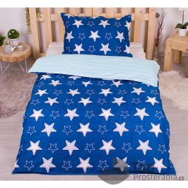 TOP Microtop povlečení 140x200+70x90 Ida Blue Stars