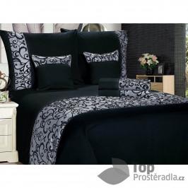 TOP Šestidílné povlečení na klasická 2 lůžka 140x200+70x90 Ornament černý
