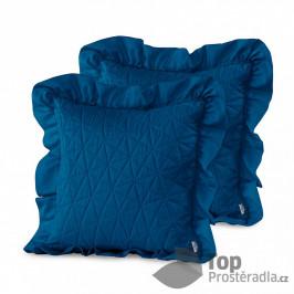 TOP Povlak na polštářek TILIA 45x45 prošívaný s límcem 1 ks - Modrý