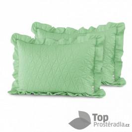 TOP Povlak na polštářek TILIA 50x70 prošívaný s límcem 1 ks - Mentolový