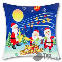 TOP Povlak na polštářek s vánočním motivem 45x45 Vánoční kapela