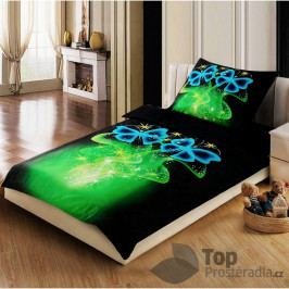 3D povlečení 140x200 + 70x90 - Kouzelní motýlci