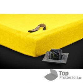 TP Froté prostěradlo Premium 180g/m2 180x200 Žlutá