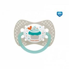 Canpol Babies Dudlík symetrický Cupcake 18m+ C - šedý 18m+