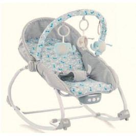 BABY MIX BABY MIX Lehátko pro kojence  s vibrací a hudbou - Motýlci - šedé