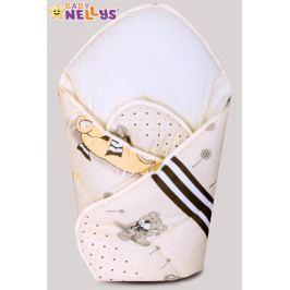Baby Nellys Novorozenecká zavinovačka, 75x75cm - Snílek - béžový