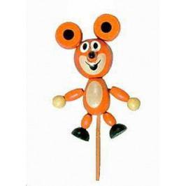 Detoa Dřevěné hračky - dřevěné dekorace - Myška magnetka