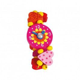 Bino Dřevěné hračky - Dřevěné hodinky - srdíčka