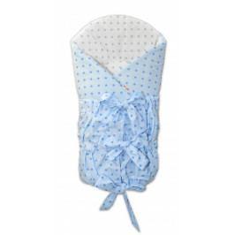 Baby Nellys Zavinovačka šněrovací 75x75cm - Mini stars modré,šedé