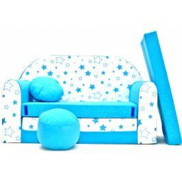 NELLYS Rozkládací dětská pohovka Nellys ® 85R - Magic stars - modré