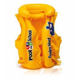 Nafukovací vesta plovací POOL SCHOOL DELUXE žlutá, 3-6 let