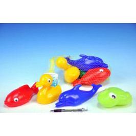 Plavací sada zvířátka plast 4ks v síťce 20x14x7cm 12m+