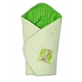 Baby Nellys Zavinovačka, bavlněná s minky 75x75cm by Teddy -  sv. zelená, tm. zelená