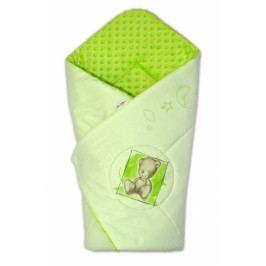 Baby Nellys Zavinovačka, bavlněná s minky 75x75cm by Teddy -  sv. zelená, sv. zelená