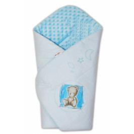 Baby Nellys Zavinovačka, bavlněná s minky 75x75cm by Teddy -  sv. modrá, sv. modrá