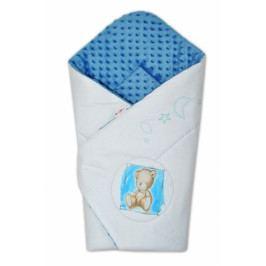 Baby Nellys Zavinovačka, bavlněná s minky 75x75cm by Teddy -  sv. modrá, modrá