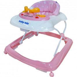 Dětské chodítko Baby Mix s volantem pink