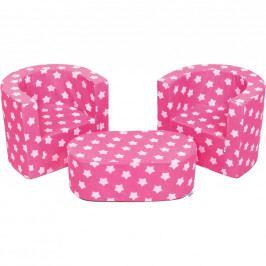 Dětská sedací souprava New Baby hvězdičky růžová