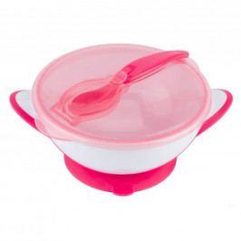 Dětská miska s přísavkou a lžičkou Baby Ono růžová
