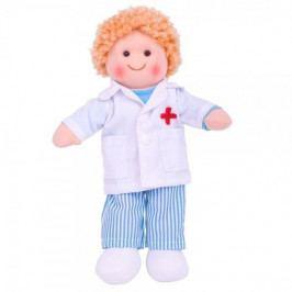 Bigjigs Hadrová panenka Doktor ADAM, 27cm