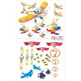 NELLYS Nálepky, dekorace na stěnu 70x100 cm - Letadlo