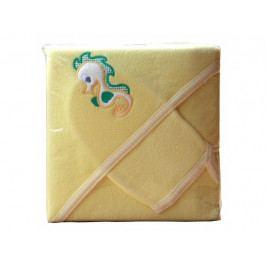Froté ručník - Scarlett s kapucí - žlutá