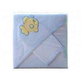 Froté ručník - Scarlett s kapucí - modrá