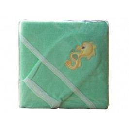 Froté ručník - Scarlett s kapucí - zelená