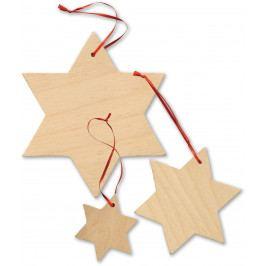 Small foot by Legler Dekorace dřevěné hvězdy 15 ks