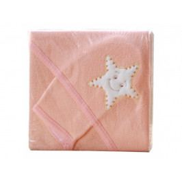 Froté ručník - Scarlett s kapucí - meruňková