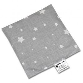 Babyrenka nahřívací polštářek z třešňových pecek Hvězdičky šedá 15x15