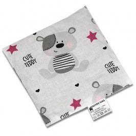 Babyrenka nahřívací polštářek z třešňových pecek Teddy fuksie 15x15