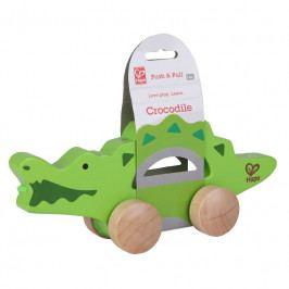 Hape HAPE - Tahací krokodýl na kolečkách