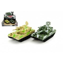 Teddies Tank plast 15cm na setrvačník asst 2 barvy 6ks v boxu