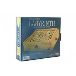 Teddies Labyrint s kuličkou hlavolam dřevo 32,5cm v krabici