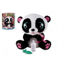 Teddies YOYO Panda interaktivní hýbající se 28cm plyš na baterie se zvukem v krabici 40x43cm 18m+