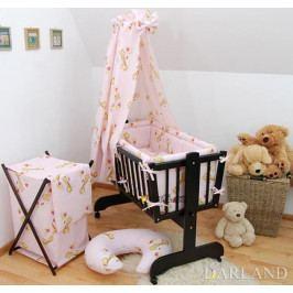DARLAND Krásný set do kolébky CL - Žirafky v růžové