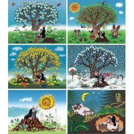 Dino Dřevěné obrázkové kostky - Kubus Kubus 12 Krtkův rok