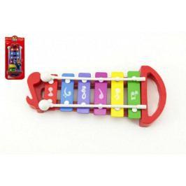 Teddies Xylofon plast/kov 25cm na kartě