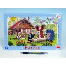 Dino Puzzle deskové Krtek na návštěvě 29,5x19cm 15 dílků