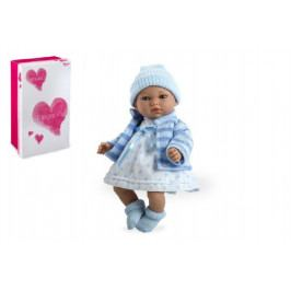 Arias Panenka miminko Andrea 28cm modré měkké tělo se zvukem na baterie v krabici