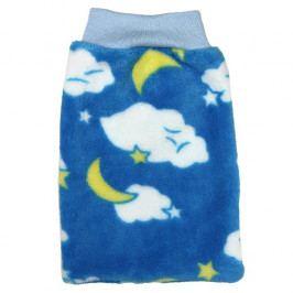Babyrenka dětská žínka Polar 16x27 cm velká mraky modrá