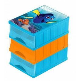 Keeeper Boxy na hračky - sada 3 šuplíků HLEDÁ SE DORY