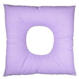 Babyrenka poporodní polštář 45x45 cm kuličky EPS Dots lila PP150DL