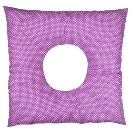 Babyrenka poporodní polštář 45x45 cm kuličky EPS Dots violet PP150DV