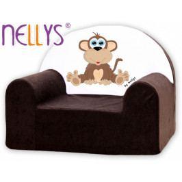 NELLYS Dětské křeslo Nellys - Opička Nellys hnědá