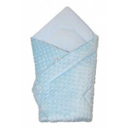 Baby Nellys Luxusní zavinovačka 75x75, Minky Baby - sv. modrá