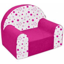 NELLYS Dětské křesílko/pohovečka Nellys ® - Magic stars - růžové