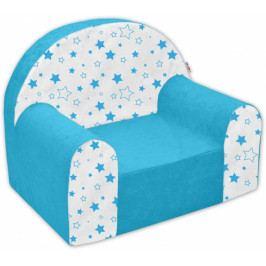 NELLYS Dětské křesílko/pohovečka Nellys ® - Magic stars - modré